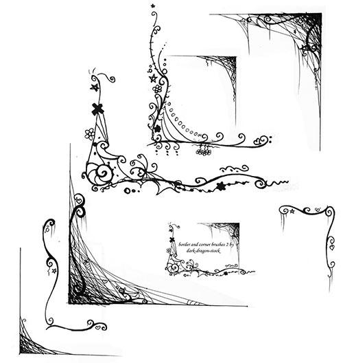 уголки для фотошопа - Кисти - Скачать ...: www.pixelbox.ru/blog/download-brushes/917.html
