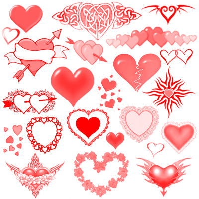 Скачать кисти для фотошопа kisti_hearts.zip: www.pixelbox.ru/blog/download-brushes/673.html