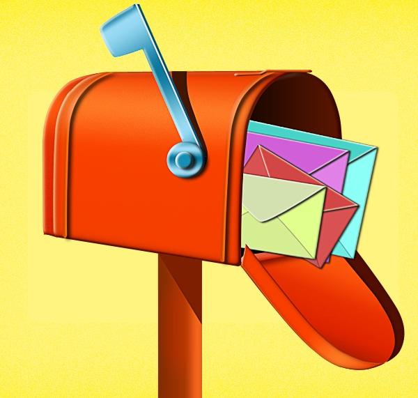 почтовый ящик в фотошопе