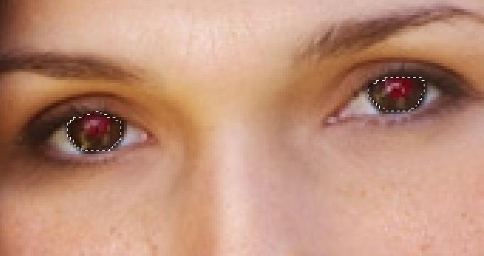видео уроки фотошопа убрать красные глаза