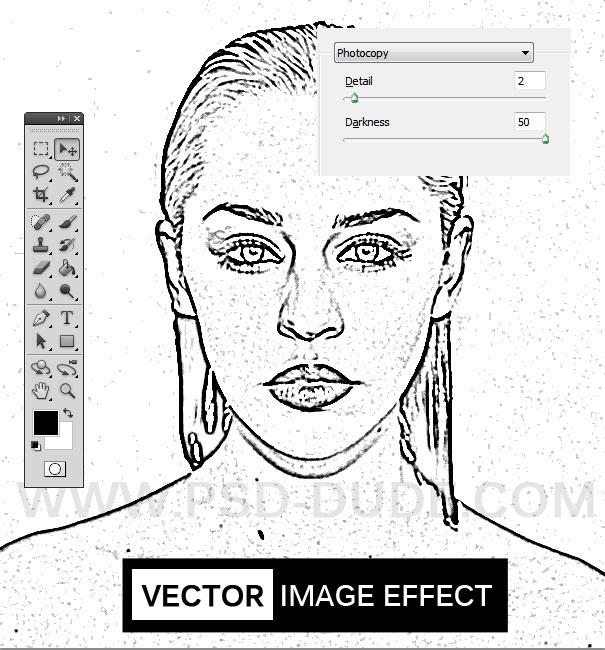 Как сделать как нарисованное карандашом вшопе