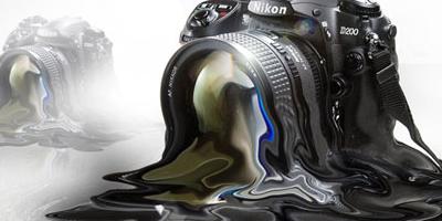 Расплавленный фотоаппарат