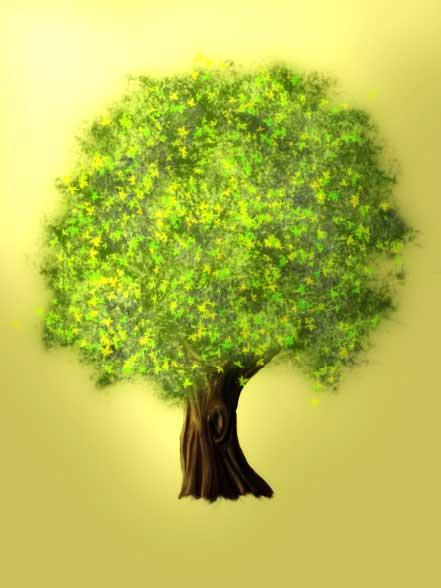 нарисовать красивое дерево в
