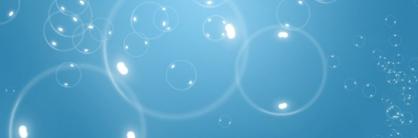 Кисти пузырьки под водой