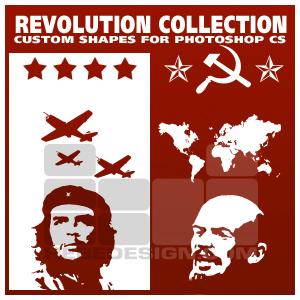 Фигуры революционных символов для фотошопа