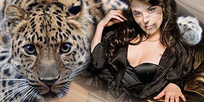 Шаблон для фото - С леопардом
