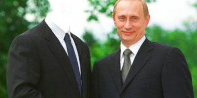 Шаблон для фото - С Путиным