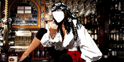 Шаблон для фото - Бармен пират