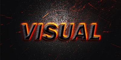Текстовый эффект - PSD исходник для фотошопа