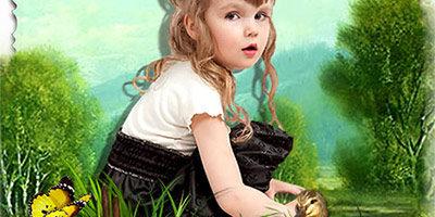 Детская рамка для фотографии - На природе