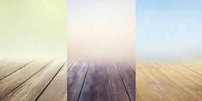 3 картинки с деревянной платформой