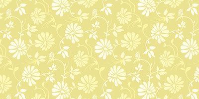 Желтый цветочный паттерн