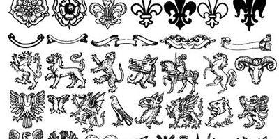 63 геральдических фигур shapes