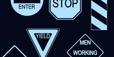 Фигуры для фотошопа - Дорожные знаки