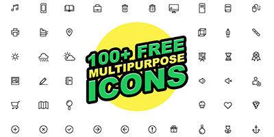 100+ шикарных контурных иконок