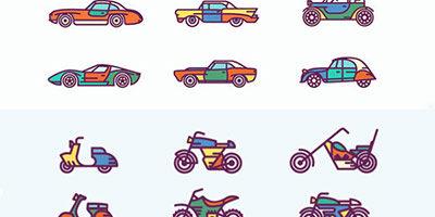 Иконки авто и мото