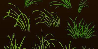 Трава для фотошопа кисти