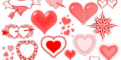 Кисти для фотошопа - сердечки