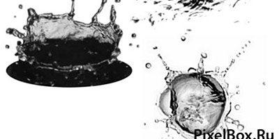 Кисти водяные брызги