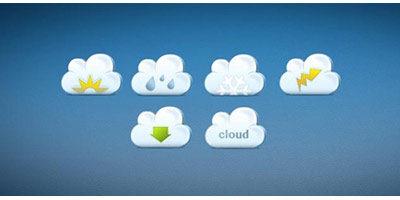 6 облачных иконок