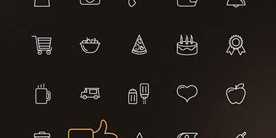 100+ иконки пища еда