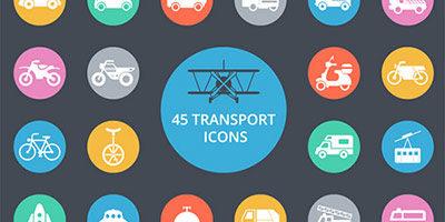 45 транспортных иконок