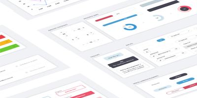 Шаблон для сайтов, статистика, элементы IU, кнопки, поля