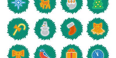 Рождественские иконки