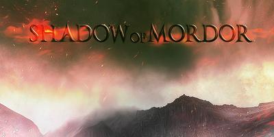 Красивый темный текст в фотошопе Shadow of Mordor