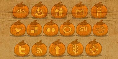 Иконки для хеллоуина или просто тыквы
